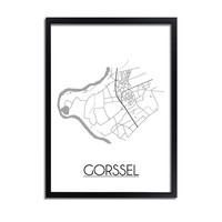 Gorssel Stadtplan-poster
