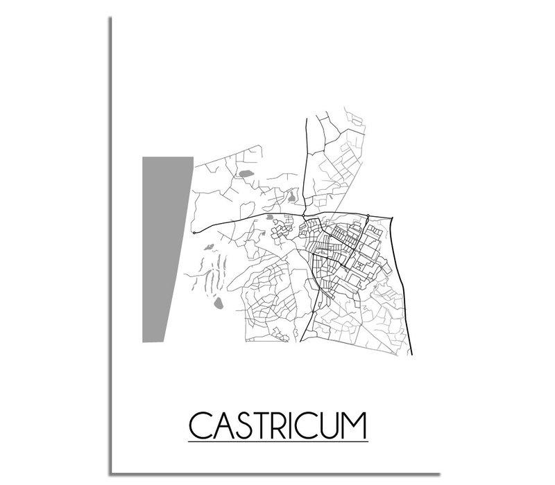 Castricum Plattegrond poster