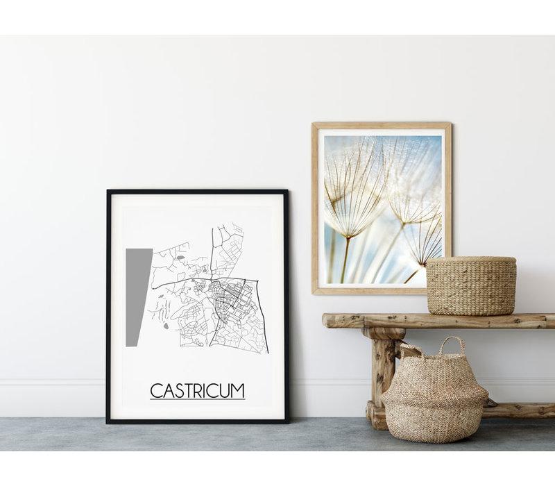 Castricum Stadtplan-poster