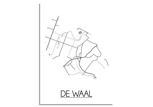 DesignClaud De Waal Plattegrond poster