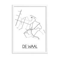 De Waal Stadtplan-poster