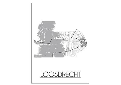 DesignClaud Loosdrecht Stadtplan-poster
