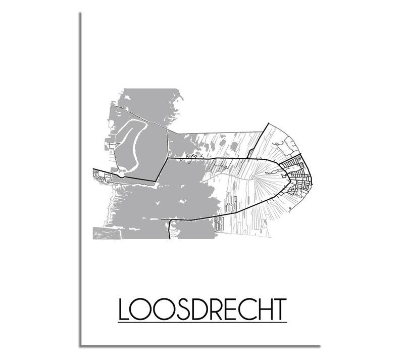 Loosdrecht Plattegrond poster