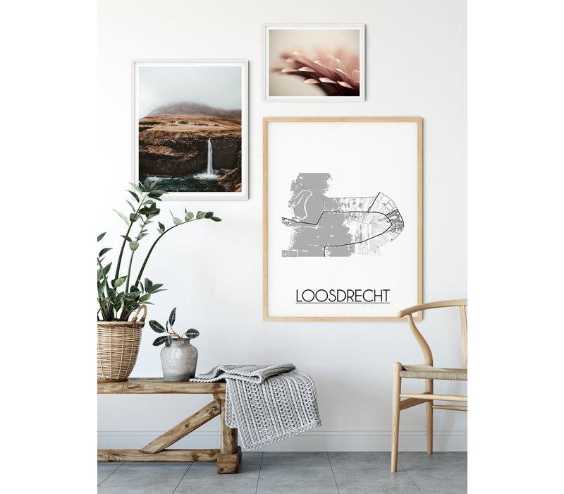 Loosdrecht Stadtplan-poster