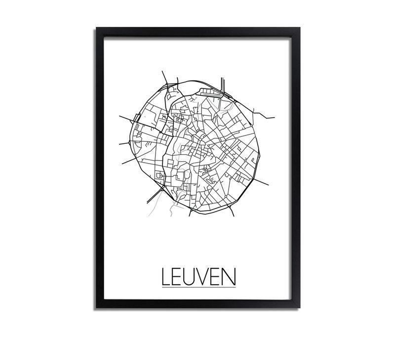 Leuven Stadtplan-poster