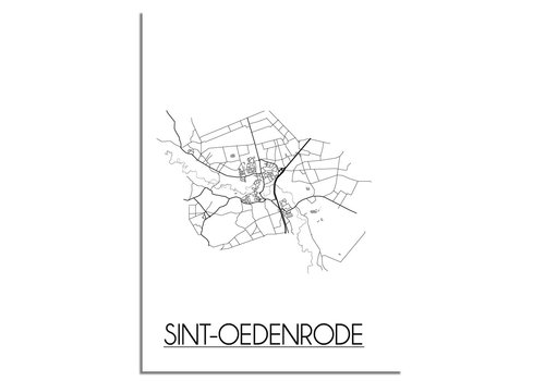 DesignClaud Sint-Oedenrode Plattegrond poster