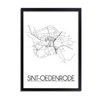 Sint-Oedenrode Stadtplan-poster