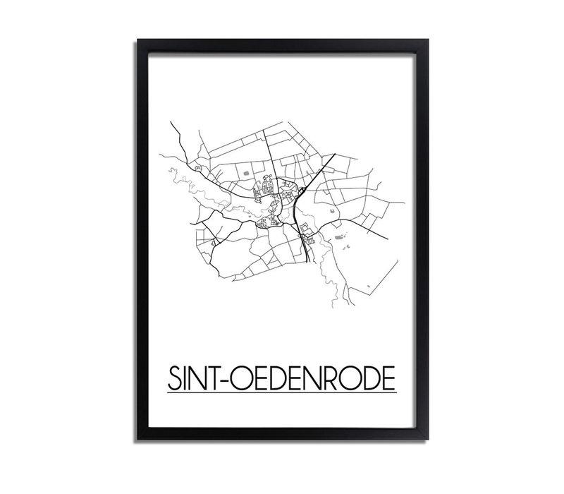 Sint-Oedenrode Plattegrond poster
