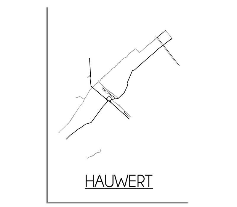 Hauwert Stadtplan-poster