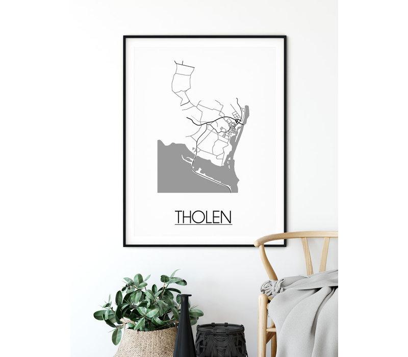 Tholen Plattegrond poster