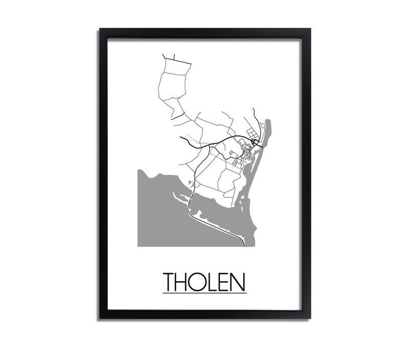 Tholen Stadtplan-poster