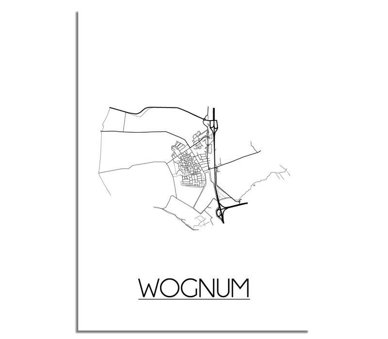 Wognum Stadtplan-poster