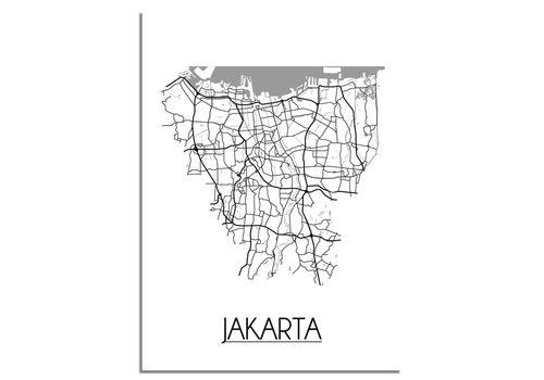 DesignClaud Jakarta Stadtplan-poster