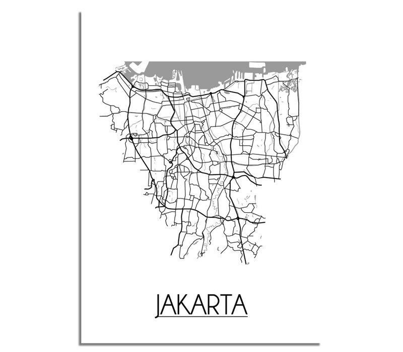 Jakarta Plattegrond poster