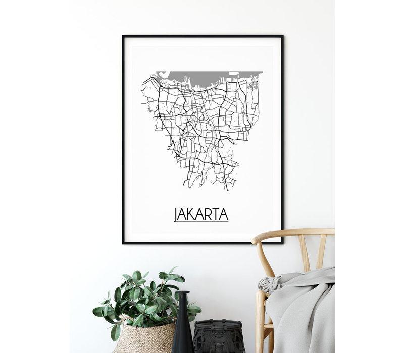 Jakarta Stadtplan-poster