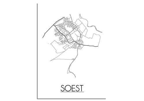 DesignClaud Soest Plattegrond poster