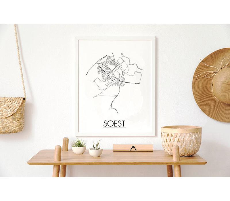 Soest Niederlande Stadtplan-poster