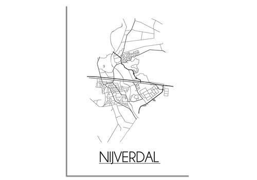 DesignClaud Nijverdal Plattegrond poster