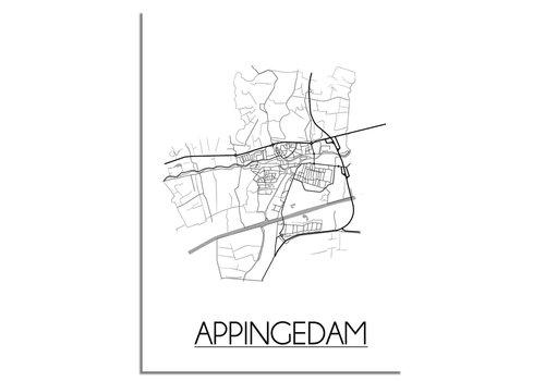 DesignClaud Appingedam Plattegrond poster