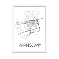 Appingedam Niederlande Stadtplan-poster