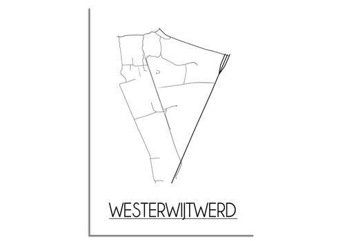DesignClaud Westerwijtwerd Plattegrond poster