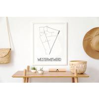 Westerwijtwerd Stadtplan-poster