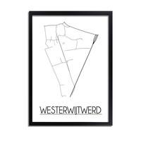 Westerwijtwerd Plattegrond poster