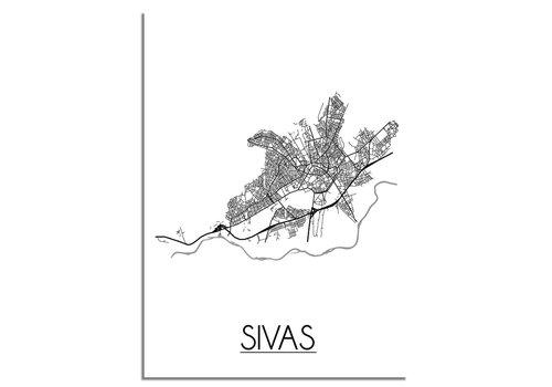 DesignClaud Sivas Stadtplan-poster