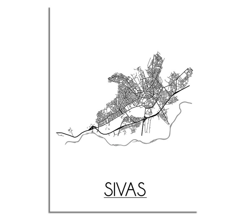 Sivas Plattegrond poster