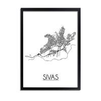 Sivas Stadtplan-poster