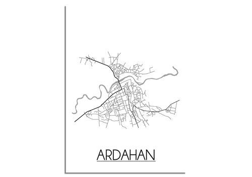 DesignClaud Ardahan  Stadtplan-poster