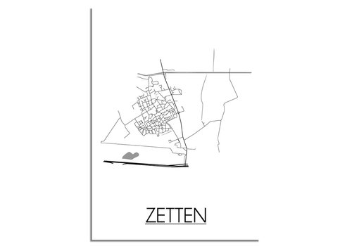 DesignClaud Zetten Plattegrond poster