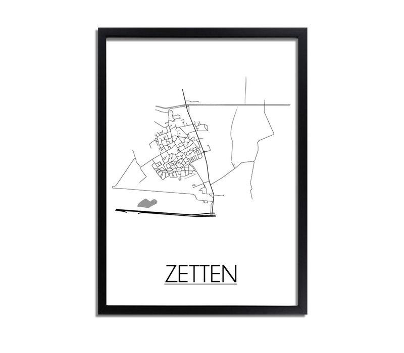 Zetten Niederlande Stadtplan-poster