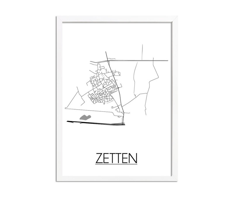 Zetten Plattegrond poster