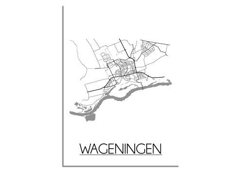 DesignClaud Wageningen Niederlande Stadtplan-poster
