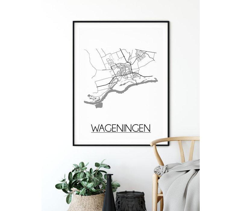 Wageningen Plattegrond poster