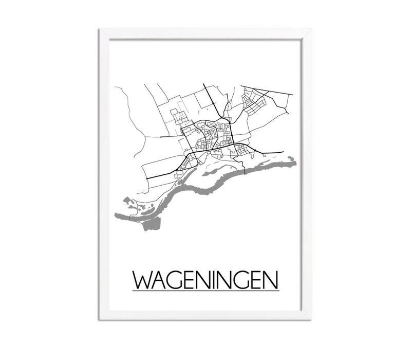 Wageningen Niederlande Stadtplan-poster