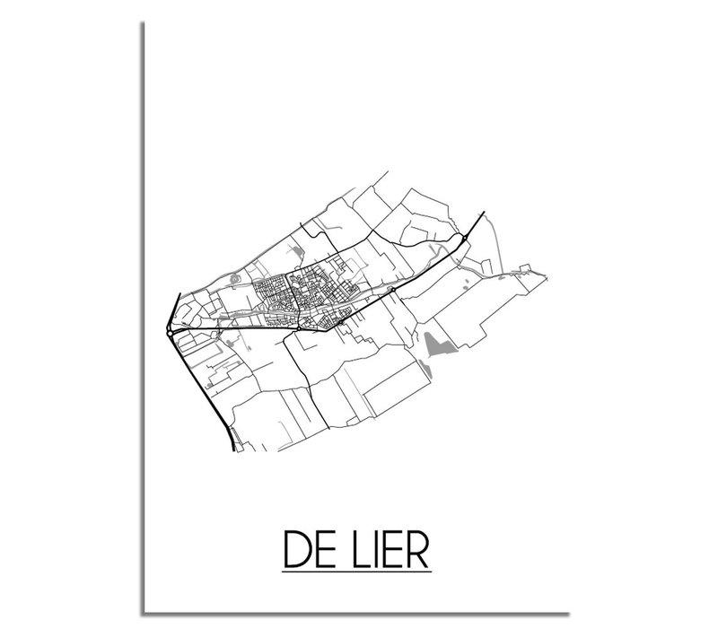 De Lier Niederlande Stadtplan-poster