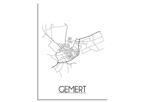 DesignClaud Gemert Niederlande Stadtplan-poster