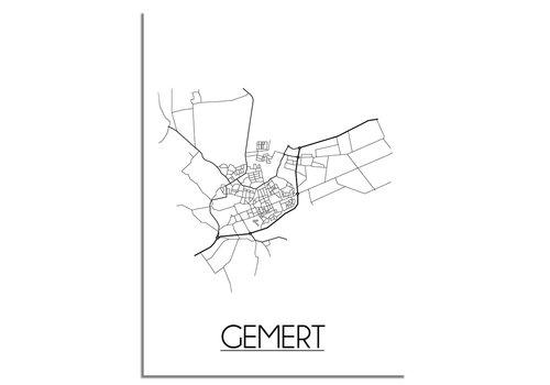 DesignClaud Gemert Plattegrond poster