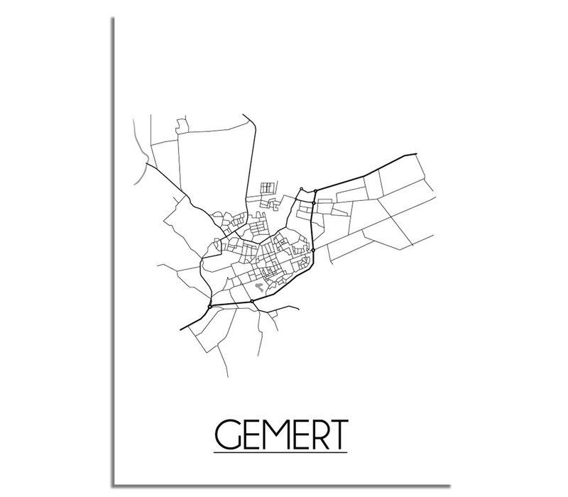 Gemert Niederlande Stadtplan-poster