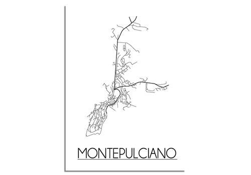 DesignClaud Montepulciano Niederlande Stadtplan-poster