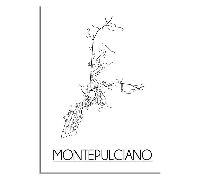 Montepulciano Niederlande Stadtplan-poster