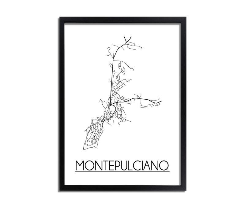 Montepulciano Plattegrond poster