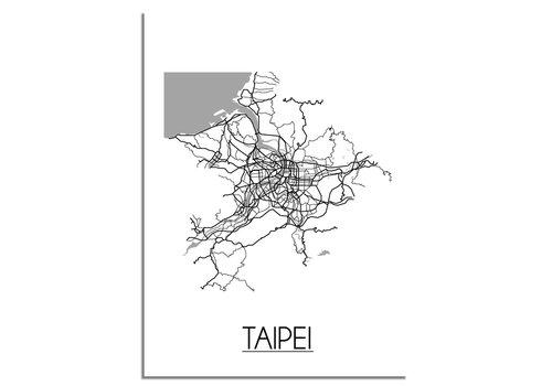 DesignClaud Taipei Stadtplan-poster