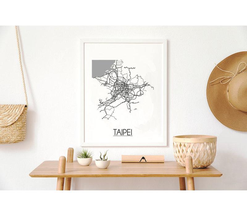 Taipei Plattegrond poster
