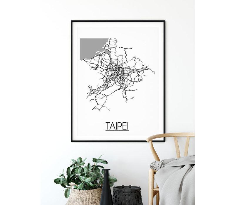 Taipei Stadtplan-poster
