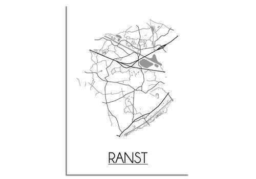 DesignClaud Ranst Plattegrond poster