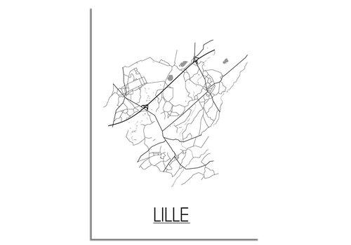 DesignClaud Lille België Plattegrond poster