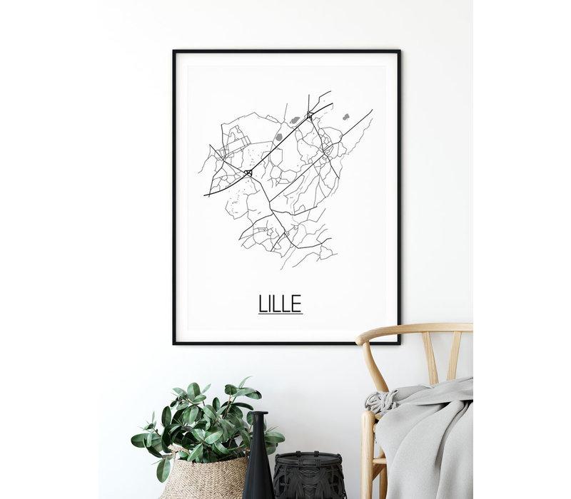 Lille België Plattegrond poster